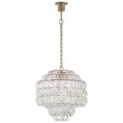 Vistosi Giogali SP 3E Suspension Light with Bronze Base by Angelo Mangiarotti