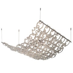 Vistosi Giogali3D SP90 Chandelier in Transparent Crystal by Angelo Mangiarotti