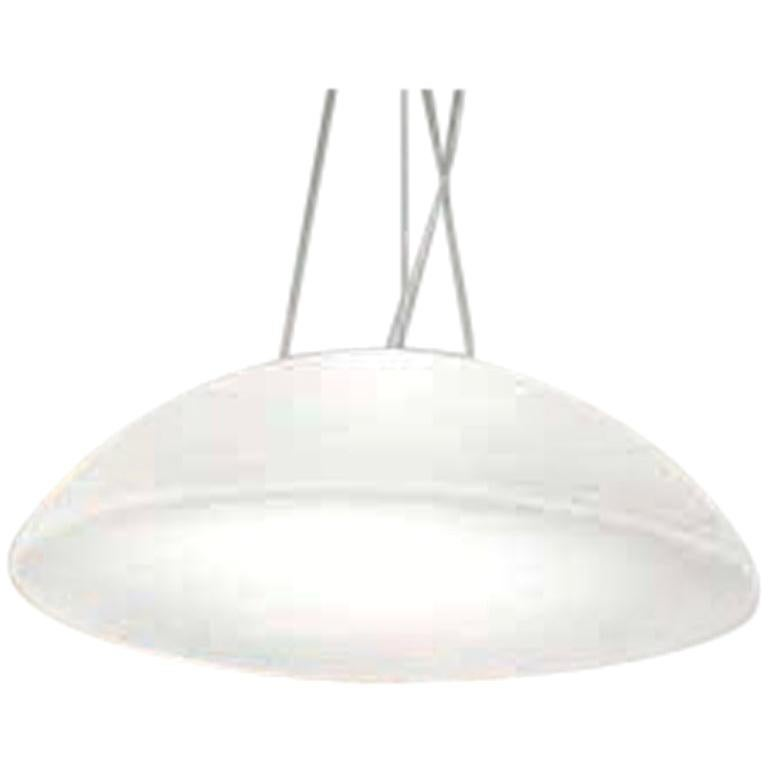 Vistosi Infinita White Pendant Light by Renato Toso, Noti Massari & Associates
