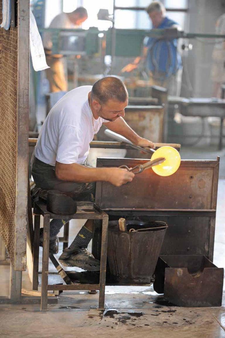 Murano Glass Vistosi Jo Table Lamp in Sand by Pio & Tito Toso For Sale