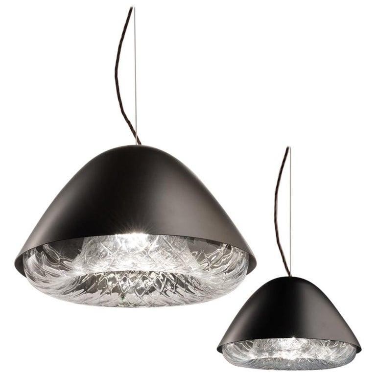 Modern Vistosi Kira SPP LED Pendant Light in Black by Alberto Saggia e Valerio Sommella For Sale
