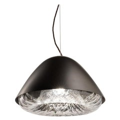 Vistosi Kira SPP LED Pendant Light in Black by Alberto Saggia e Valerio Sommella
