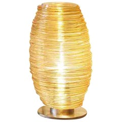 Vistosi Large Damasco Table Lamp in Transparent Topaz by Paolo Crepax