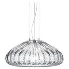 Vistosi Large Diamante SP 50 Suspension Light in Crystal by Barbara Maggiolo