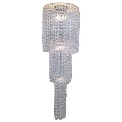 Vistosi Large Giogali PL CA1 Chandelier in Crystal & Chrome by Angelo Mangiarott