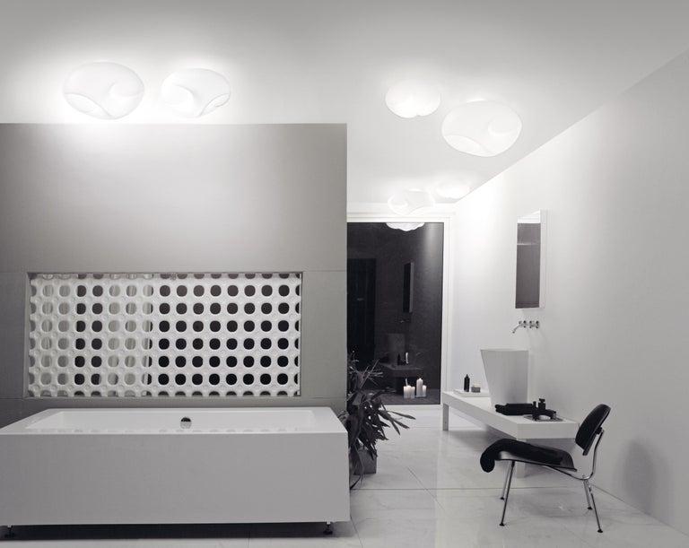 Italian Vistosi Large LED Munega Table Lamp in White by Luciano Vistosi For Sale