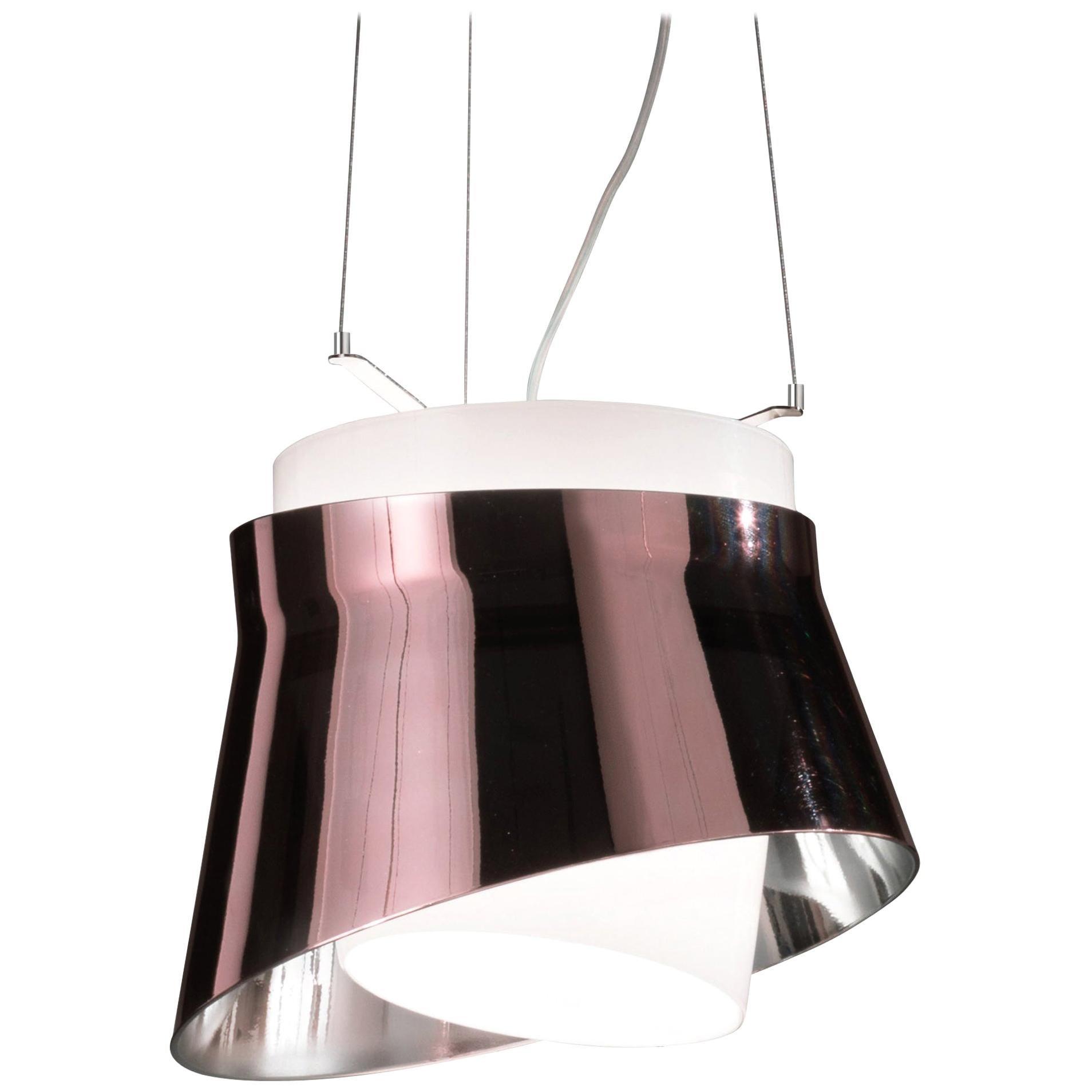 Vistosi LED Aria Pendant Light in Purple by Giovanni Barbato