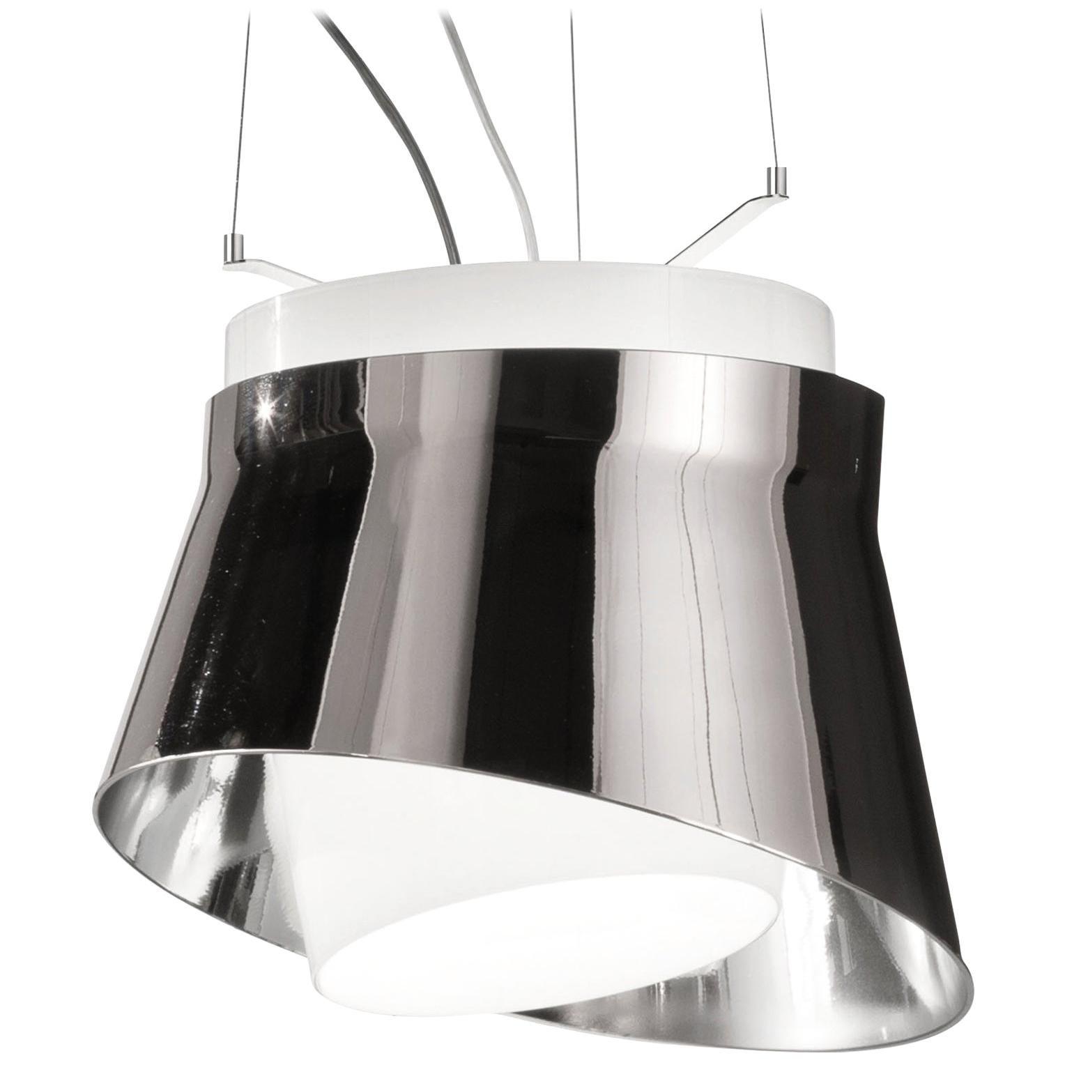 Vistosi LED Aria Pendant Light in Silver by Giovanni Barbato