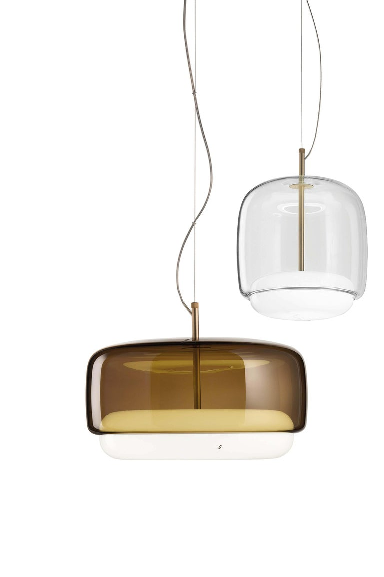 Blown Glass Vistosi LED Jube SP G Suspension Light by Favaretto&Partners For Sale