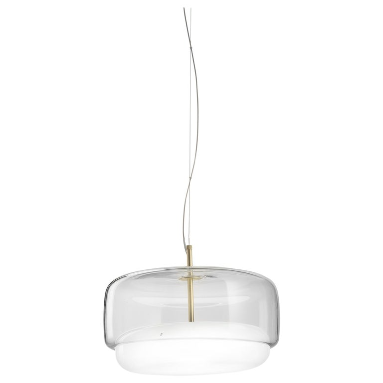 For Sale: White (Crystal and White) Vistosi LED Jube SP G Suspension Light by Favaretto&Partners