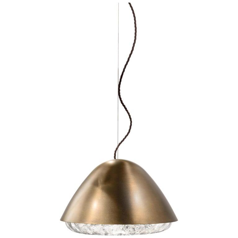 For Sale: Brown (Glossy Bronze) Vistosi LED Kira SP P Suspension Light by Alberto Saggia e Valerio Sommella