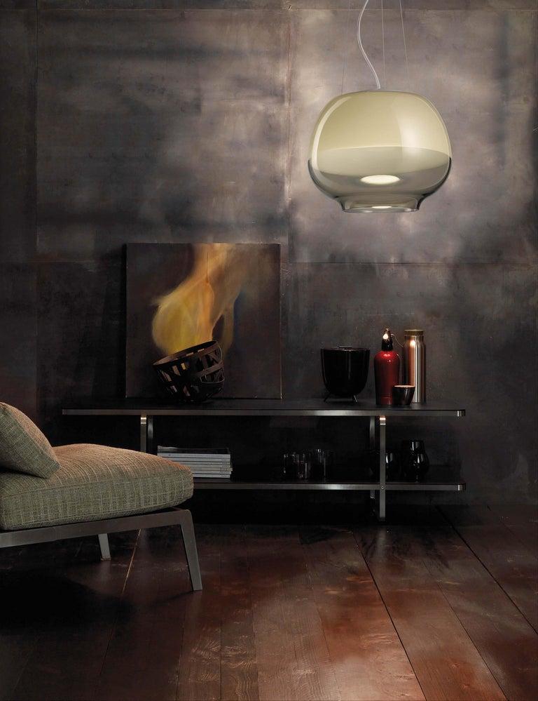 Modern Vistosi LED Mirage SP Suspension Light by Giovanni Barbato For Sale