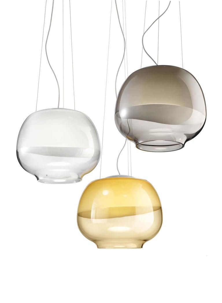 Italian Vistosi LED Mirage SP Suspension Light by Giovanni Barbato For Sale