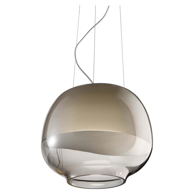 For Sale: Brown (Smoky) Vistosi LED Mirage SP Suspension Light by Giovanni Barbato