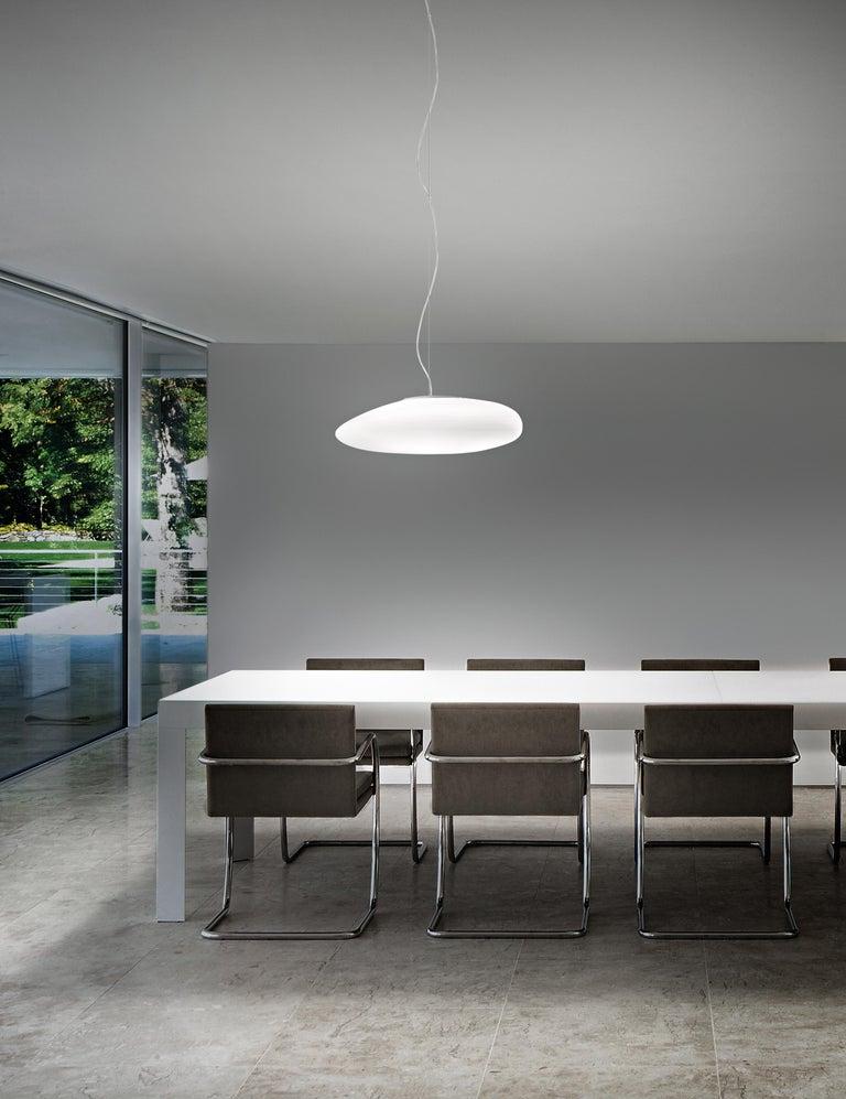 Italian Vistosi LED Neochic SP R Suspension Light in Matte White by Chiaramonte & Marin For Sale
