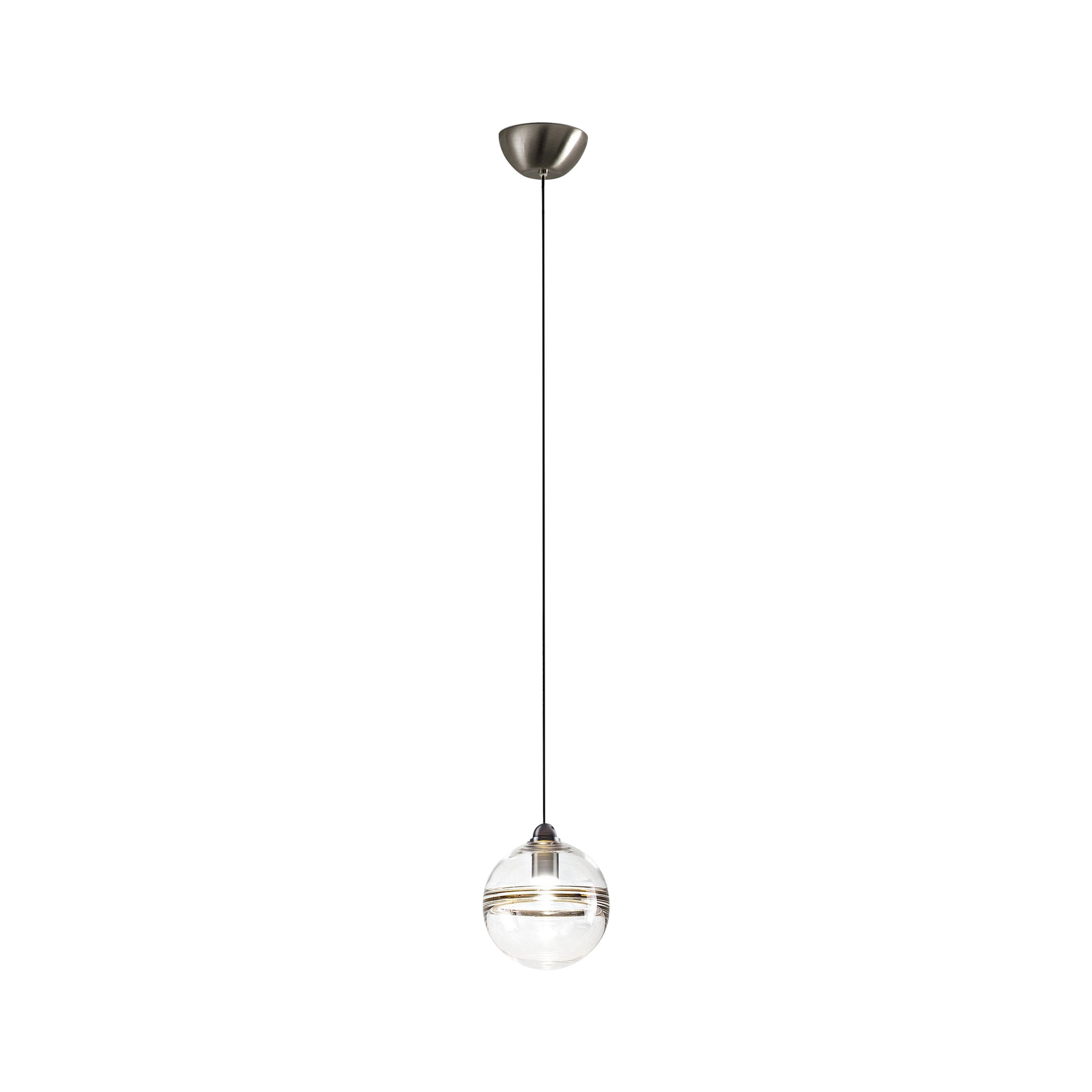LED Oro SP P Suspension Light with Nickel Frame by Vistosi