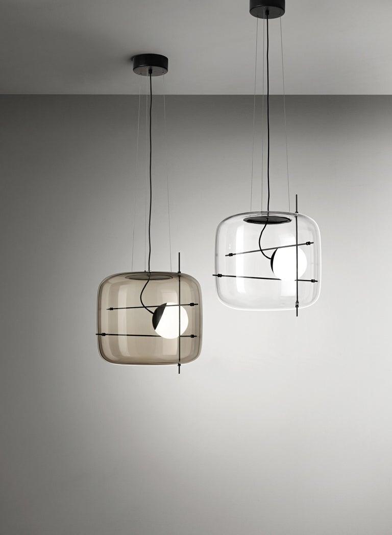 Glass Vistosi LED Plot SP Suspension Light by Chiaramonte & Marin For Sale