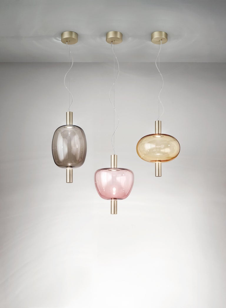 Modern Vistosi LED Riflesso SP 2 Suspension Light by Chiaramonte For Sale