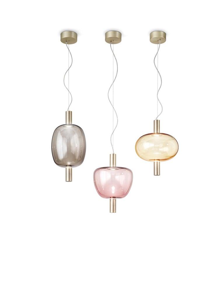 Modern Vistosi LED Riflesso SP 3 Suspension Light by Chiaramonte For Sale