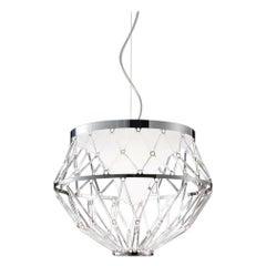 Vistosi LED Starnet Pendant in Crystal by Gianni Veneziano e Luciana Di Virgilio