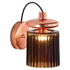 Vistosi LED Tread Wall Lamp with Matte Copper Frame by Chiaramonte
