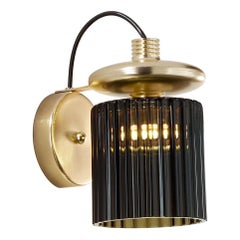 Vistosi LED Tread Wall Lamp with Matte Gold Frame by Chiaramonte