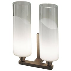 Vistosi Lio Two-Piece Wall Sconce in Crystal & White by Vistosi Historic Archive