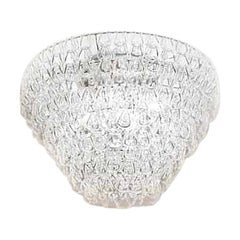 Vistosi Minigiogali Flush Light in Crystal and Transparent, Angelo Mangiarotti