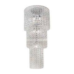 Vistosi Minigiogali Pendant Light in Crystal and Transparent, Angelo Mangiarotti