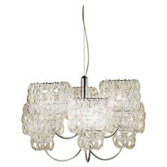 Vistosi MiniGiogali SP CHA Pendant Light in Glass by Angelo Mangiarotti
