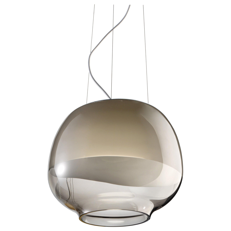 Vistosi Mirage SP LED Pendant Light in Smoky White by Giovanni Barbato