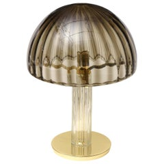 Vistosi Murano Brass and Glass Dome Table or Desk Lamp Vintage