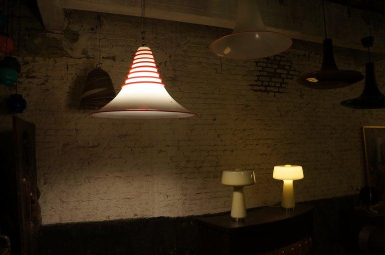 Mid-Century Modern Vistosi Murano Glass Pendant Chandelier For Sale