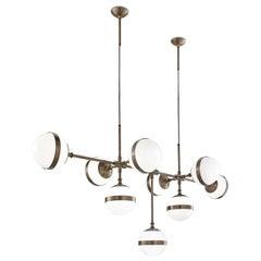 Vistosi Peggy SP9 Pendant Light in Bronze by Hangar Design Group