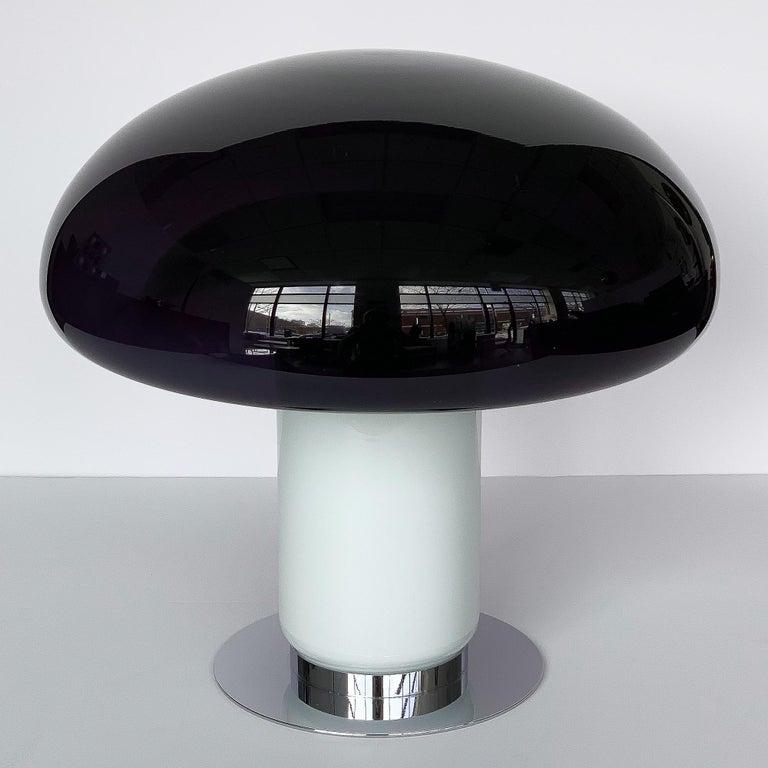 Italian Vistosi Purple / Amethyst Mushroom Table Lamp For Sale