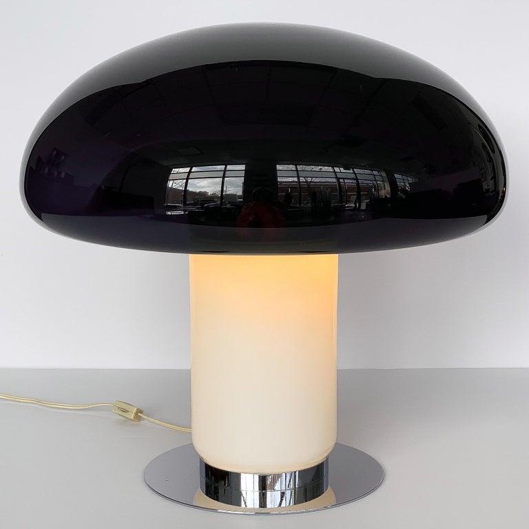 Vistosi Purple / Amethyst Mushroom Table Lamp For Sale 1