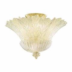 Vistosi Redentore Flush Light in Crystal and Graniglia by Studio Tecnico Vistosi