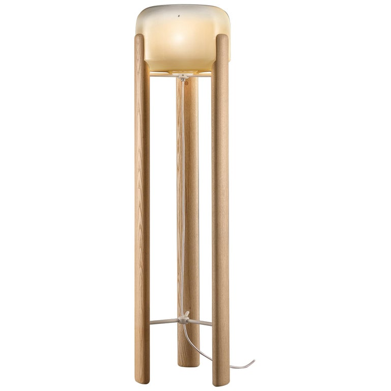 Vistosi Sata PT Floor Lamp in White by Favaretto and Partners For Sale