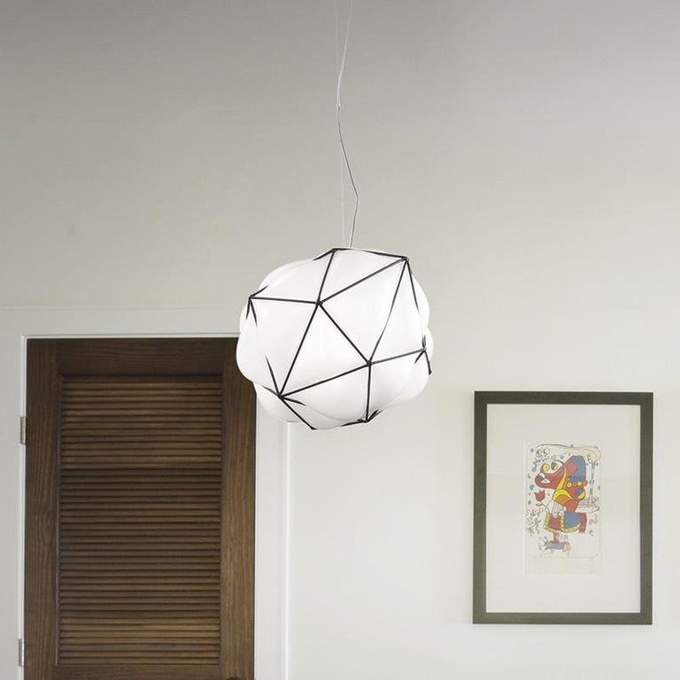 Modern Vistosi Semai SP M Pendant in Glossy White by Alberto Saggia e Valerio Sommella For Sale