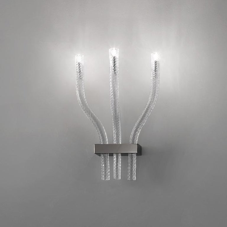 Modern Vistosi Stardust AP 3 Sconce in Crystal Glass by Francesco Lucchese For Sale