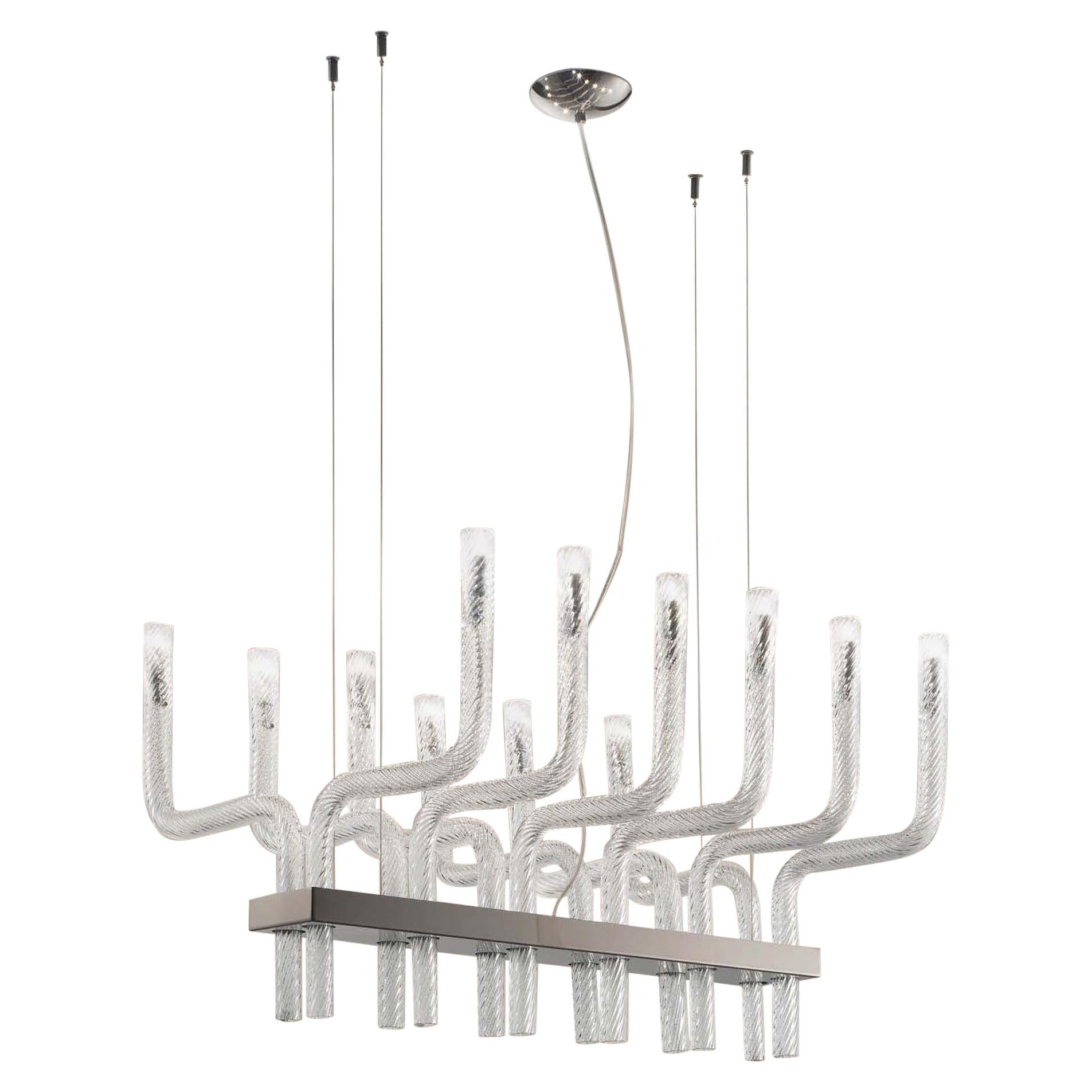 Vistosi Stardust SP R Pendant in Crystal Glass by Francesco Lucchese
