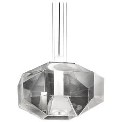 Vistosi Stone SP LED Pendant Light in Crystal and White by Hangar Design Group