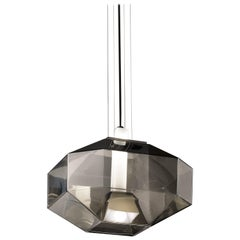 Vistosi Stone SP LED Pendant Light in Smoke and White by Hangar Design Group