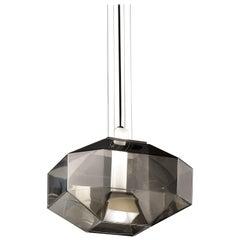 Vistosi Stone SP LED Pendant Light in Smoke and White by Hangar Design Group