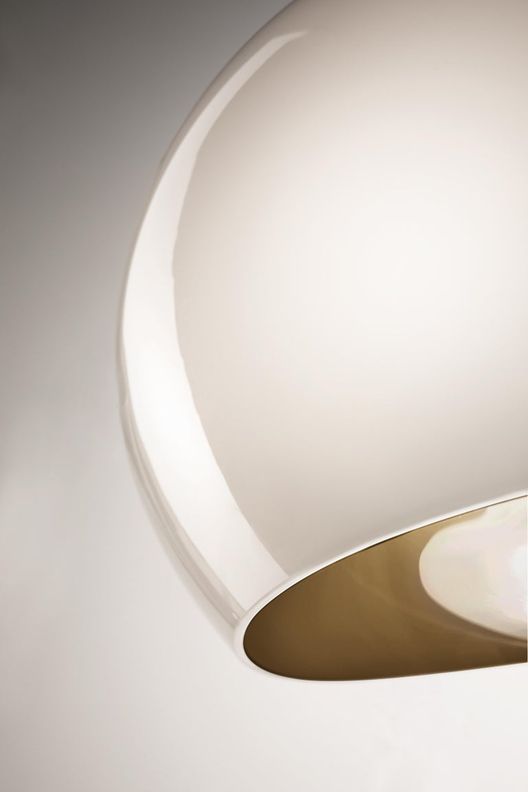 Modern Vistosi Surface SPP LED Pendant Light in White by Giovanni Barbato For Sale