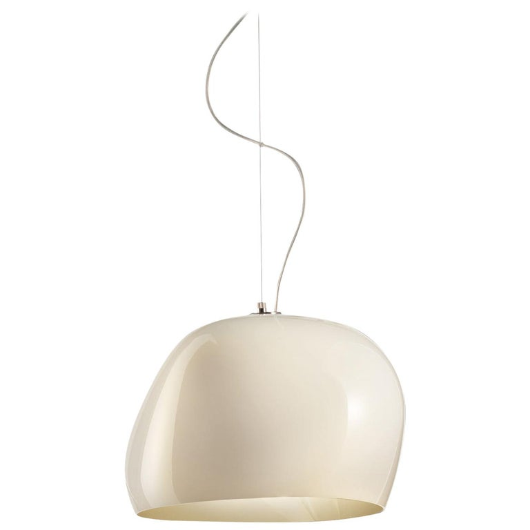 Vistosi Surface SPP LED Pendant Light in White by Giovanni Barbato For Sale