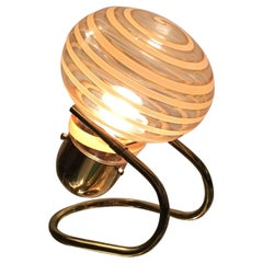 Vistosi Table Lamp Murano Glass Brass, 1970, Italy