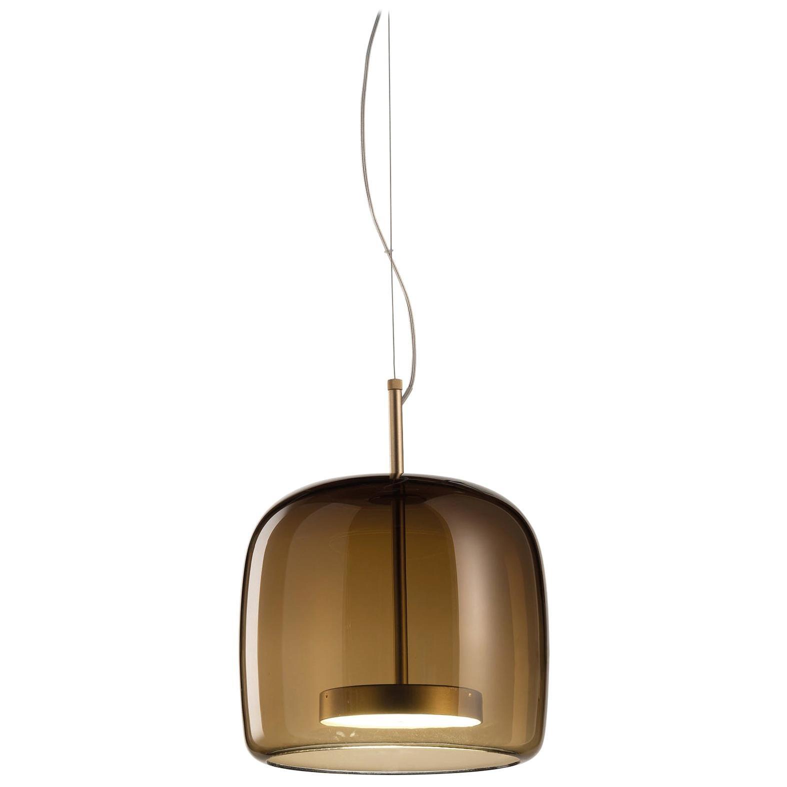 Vistosi Tall LED Jube Pendant Light in Brown by Favaretto & Partners