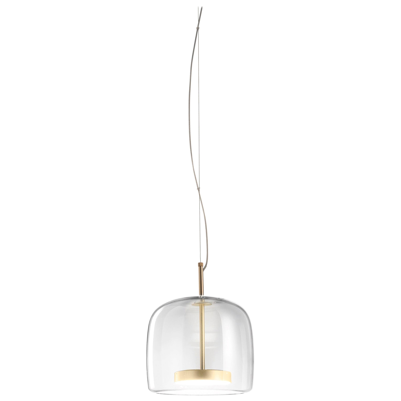 Vistosi Tall LED Jube Pendant Light in Crystal by Favaretto & Partners