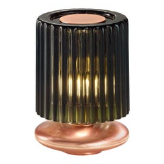 Vistosi Tread LT Table Lamp with Copper Base by Chiaramonte